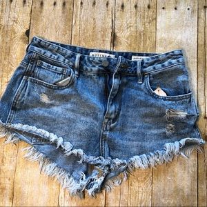 Bullhead Denim high-rise cutoff shorts